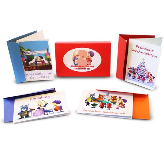 schnatter und lieschen gru kartenbox schnatter und lieschen buch cd. Black Bedroom Furniture Sets. Home Design Ideas