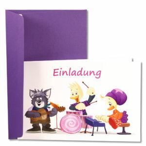 Schnatter und Lieschen Grußkarte Einladung
