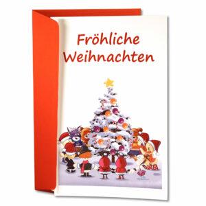 Schnatter und Lieschen Grußkarte Fröhliche Weihnachten