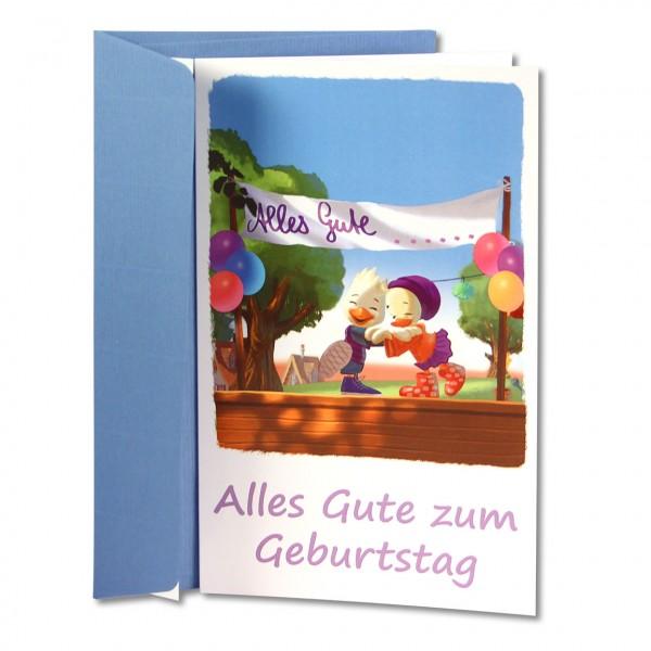 Schnatter und Lieschen Grußkarte Alles Gute zum Geburtstag